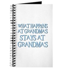 STAYS AT GRANDMA'S (blue) Journal