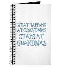 STAYS AT GRANDMA'S (blue) Journal