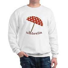 Cute Umbrella Picture Sweatshirt