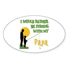 Fishing With Papa Oval Decal