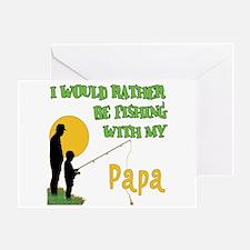 Fishing With Papa Greeting Card