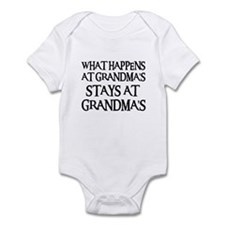 STAYS AT GRANDMA'S (blk) Infant Bodysuit