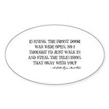 Television Quote Oval Decal