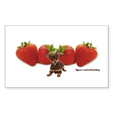 Strawberry Chihuahua Rectangle Decal