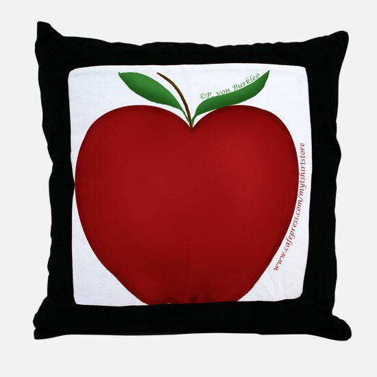Cute Apple 2 Throw Pillow