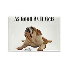 Good Bulldog Puppy Rectangle Magnet