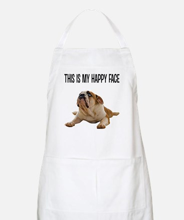 Happy Face Bulldog Apron