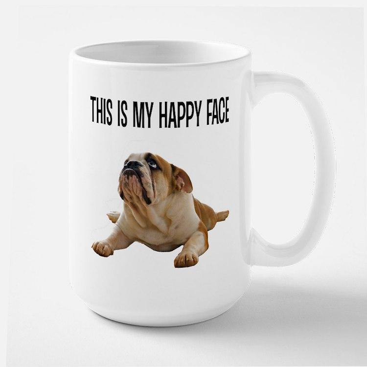 Happy Face Bulldog Mug