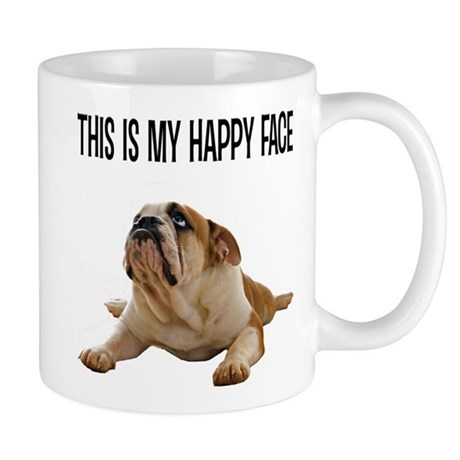 Happy Face Bulldog Mug