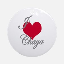 I love (heart) Chaya Ornament (Round)