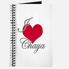 I love (heart) Chaya Journal