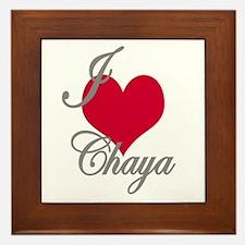 I love (heart) Chaya Framed Tile