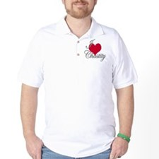 I love (heart) Chastity T-Shirt
