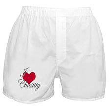 I love (heart) Chastity Boxer Shorts
