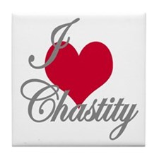 I love (heart) Chastity Tile Coaster