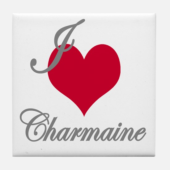 I love (heart) Charmaine Tile Coaster