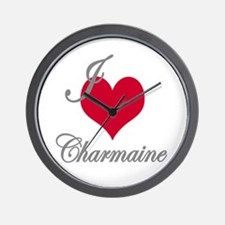 I love (heart) Charmaine Wall Clock