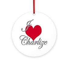I love (heart) Charlize Ornament (Round)