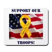 Support Our Troops! Mousepad