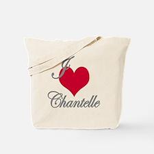 I love (heart) Chantelle Tote Bag