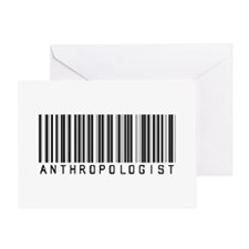 Anthropologist Barcode Greeting Card