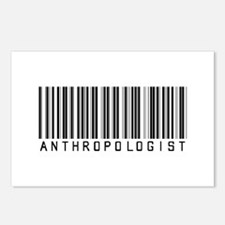 Anthropologist Barcode Postcards (Package of 8)