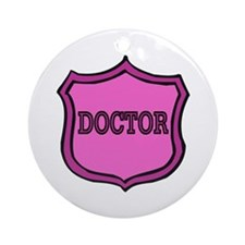 Female Doctor's Badge Ornament (Round)