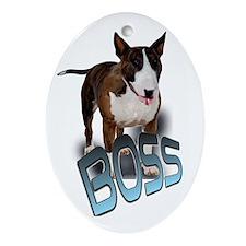 Bull Terrier Oval Ornament