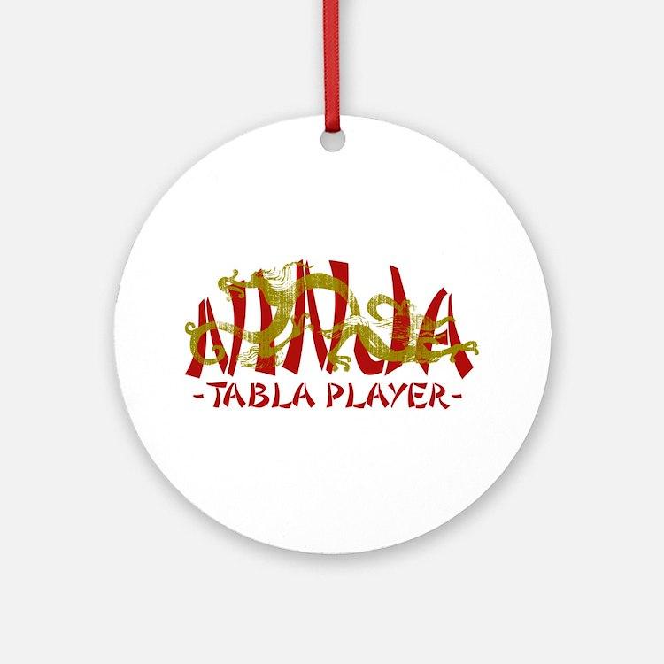 Dragon Ninja Tabla Player Ornament (Round)