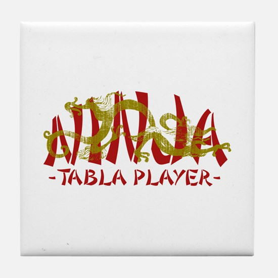 Dragon Ninja Tabla Player Tile Coaster