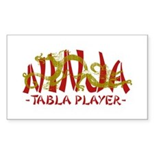 Dragon Ninja Tabla Player Rectangle Stickers