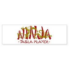Dragon Ninja Tabla Player Bumper Stickers