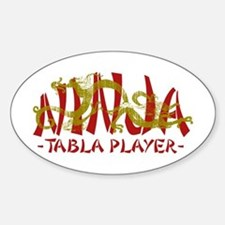 Dragon Ninja Tabla Player Oval Stickers