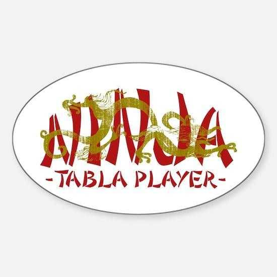 Dragon Ninja Tabla Player Oval Stickers