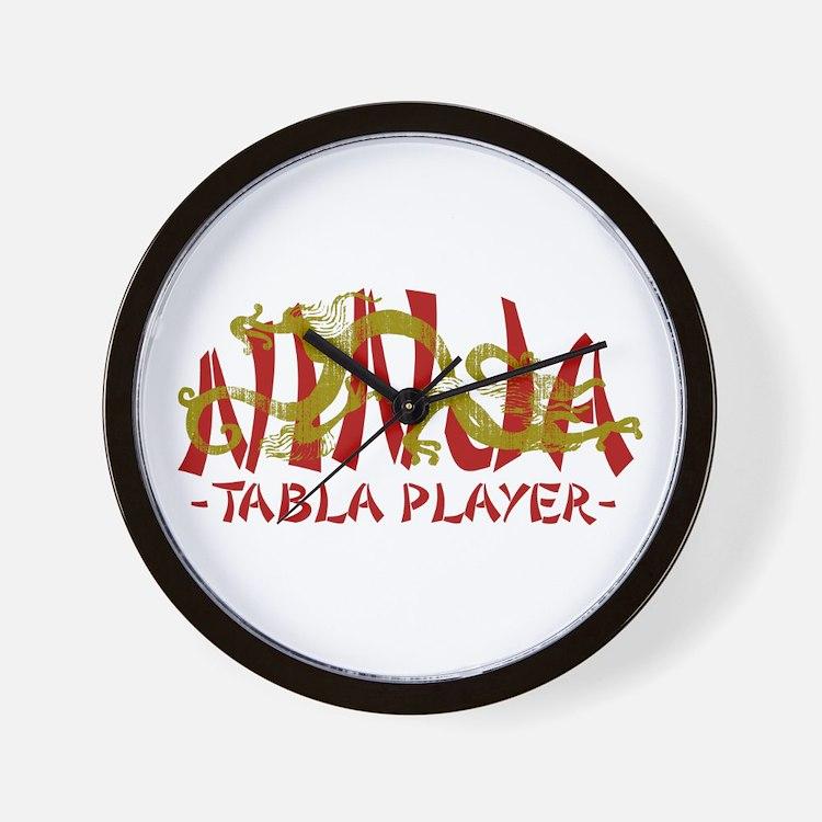 Dragon Ninja Tabla Player Wall Clock