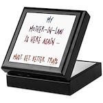 Mother in law traps Keepsake Box