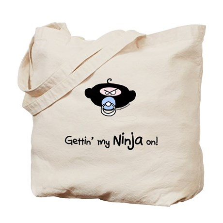 Rude lil dude ninja Tote Bag