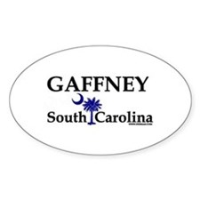 Gaffney South Carolina Oval Decal