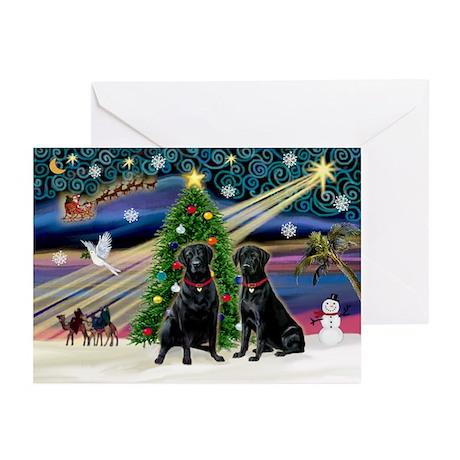 Xmas Magic & Lab PR Greeting Cards (Pk of 10)