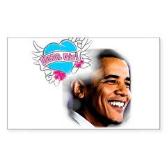 Obama Girl Rectangle Decal
