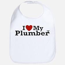 I Love My Plumber Bib