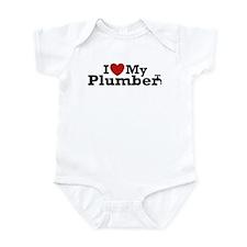 I Love My Plumber Infant Bodysuit