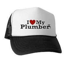 I Love My Plumber Trucker Hat
