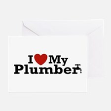 I Love My Plumber Greeting Cards (Pk of 10)
