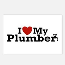 I Love My Plumber Postcards (Package of 8)