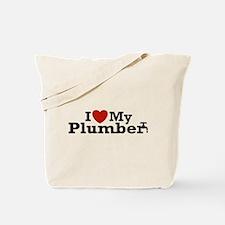 I Love My Plumber Tote Bag