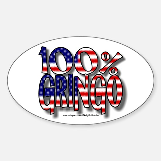 100% Gringo Oval Decal