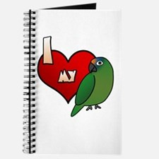 Love Peach Front Conure Journal