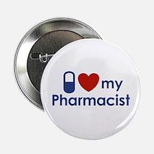 "I Love my Pharmacist 2.25"" Button"