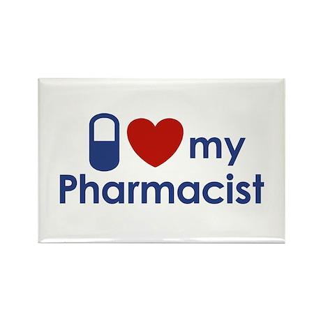 I Love my Pharmacist Rectangle Magnet